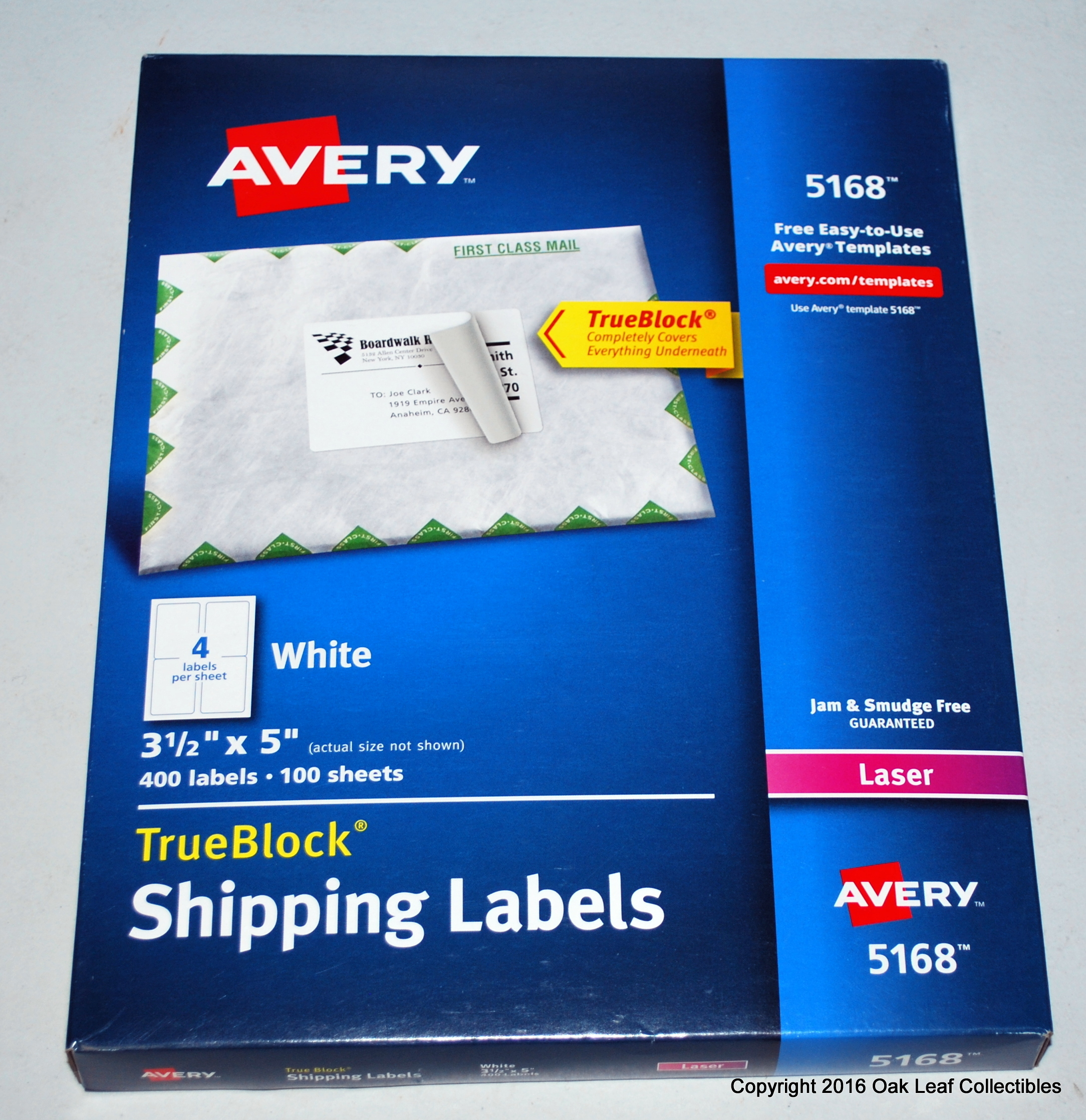 New genuine avery 5168 white shipping labels 3 1 2 x 5 for Avery 5168 label template