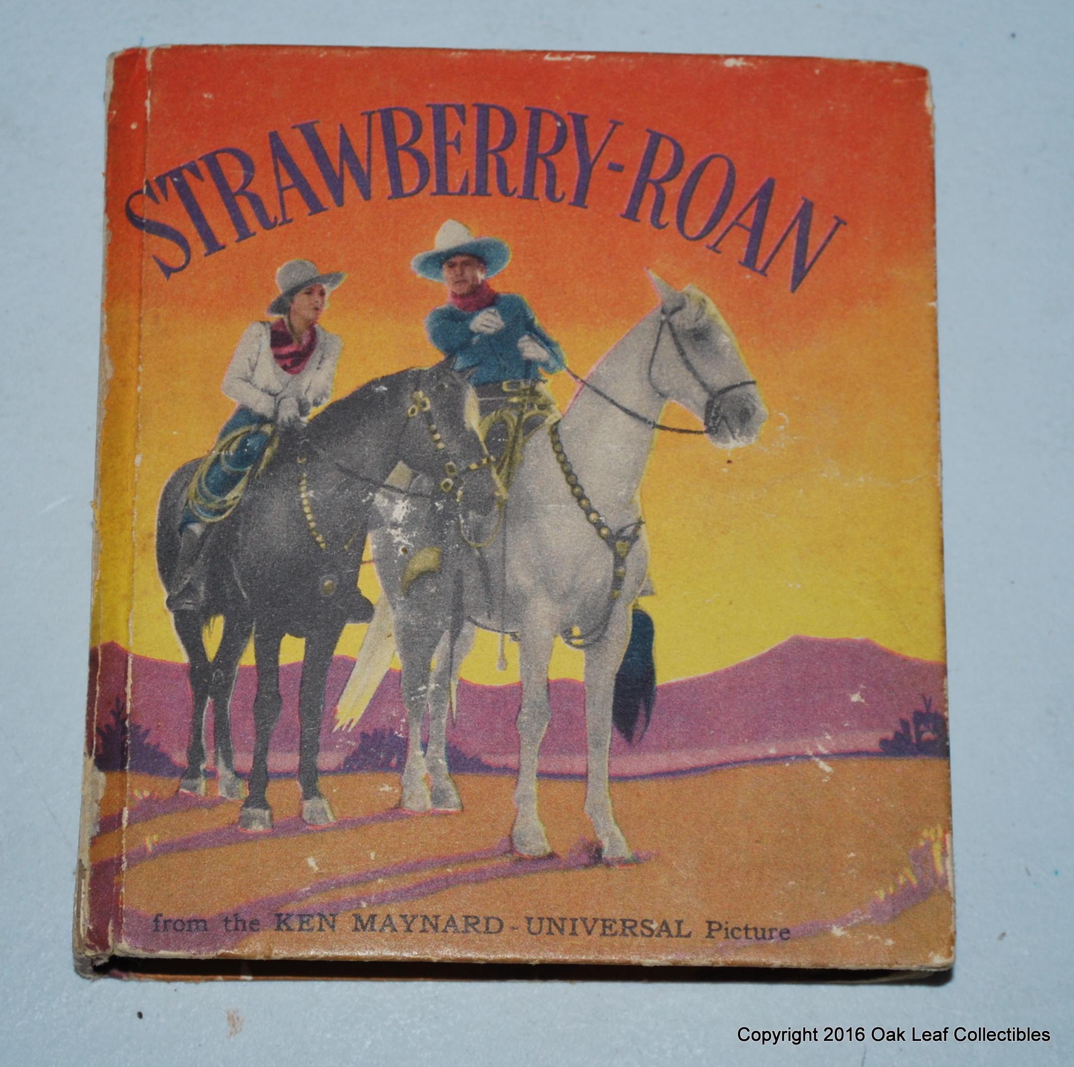 1934 Big Little Book STRAWBERRY ROAN Ken Maynard Western Movie - photo#29