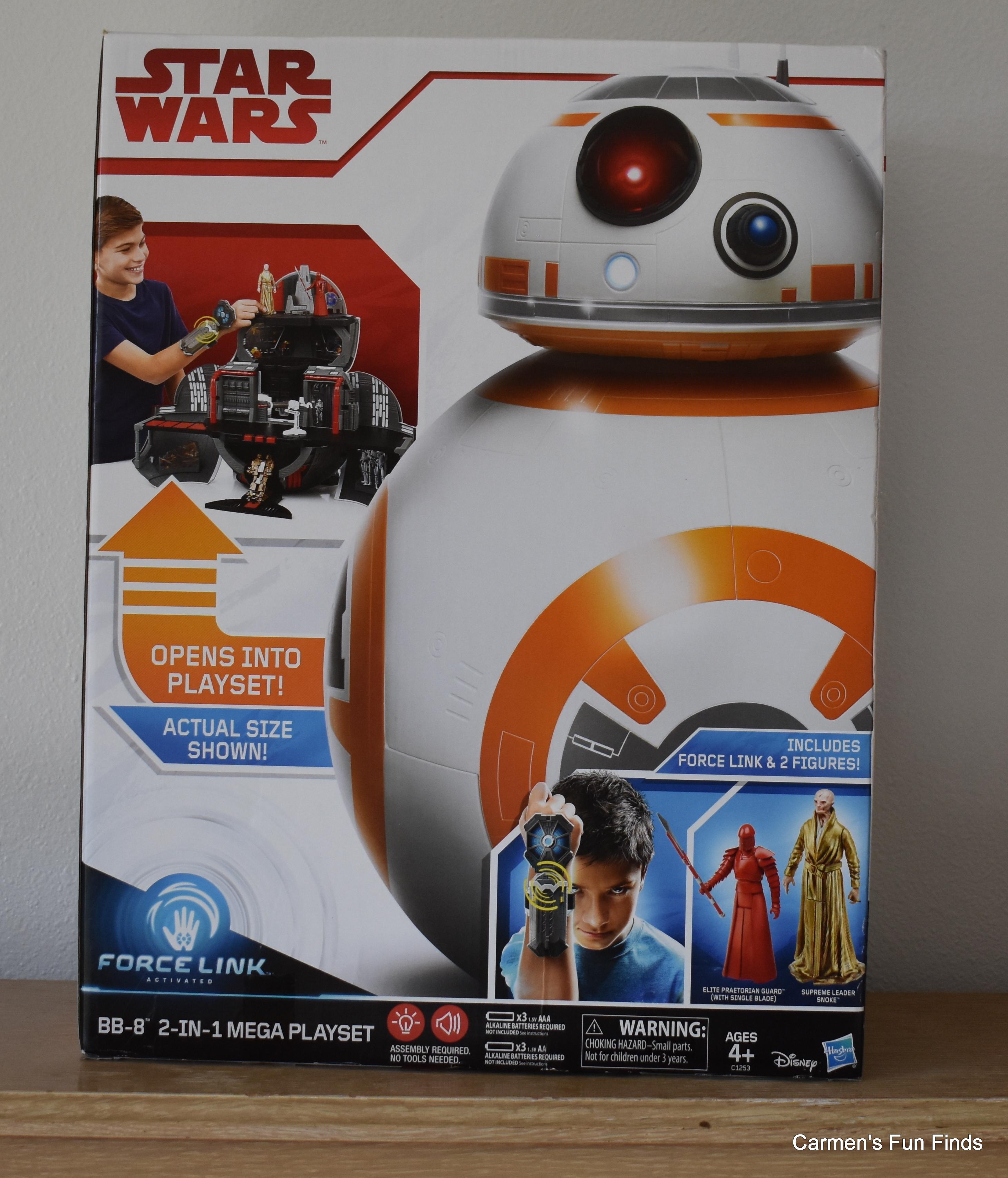 Star Wars BB-8 2 en 1 Mega Playset W Force Link /& 2 FIGURINES snoke New