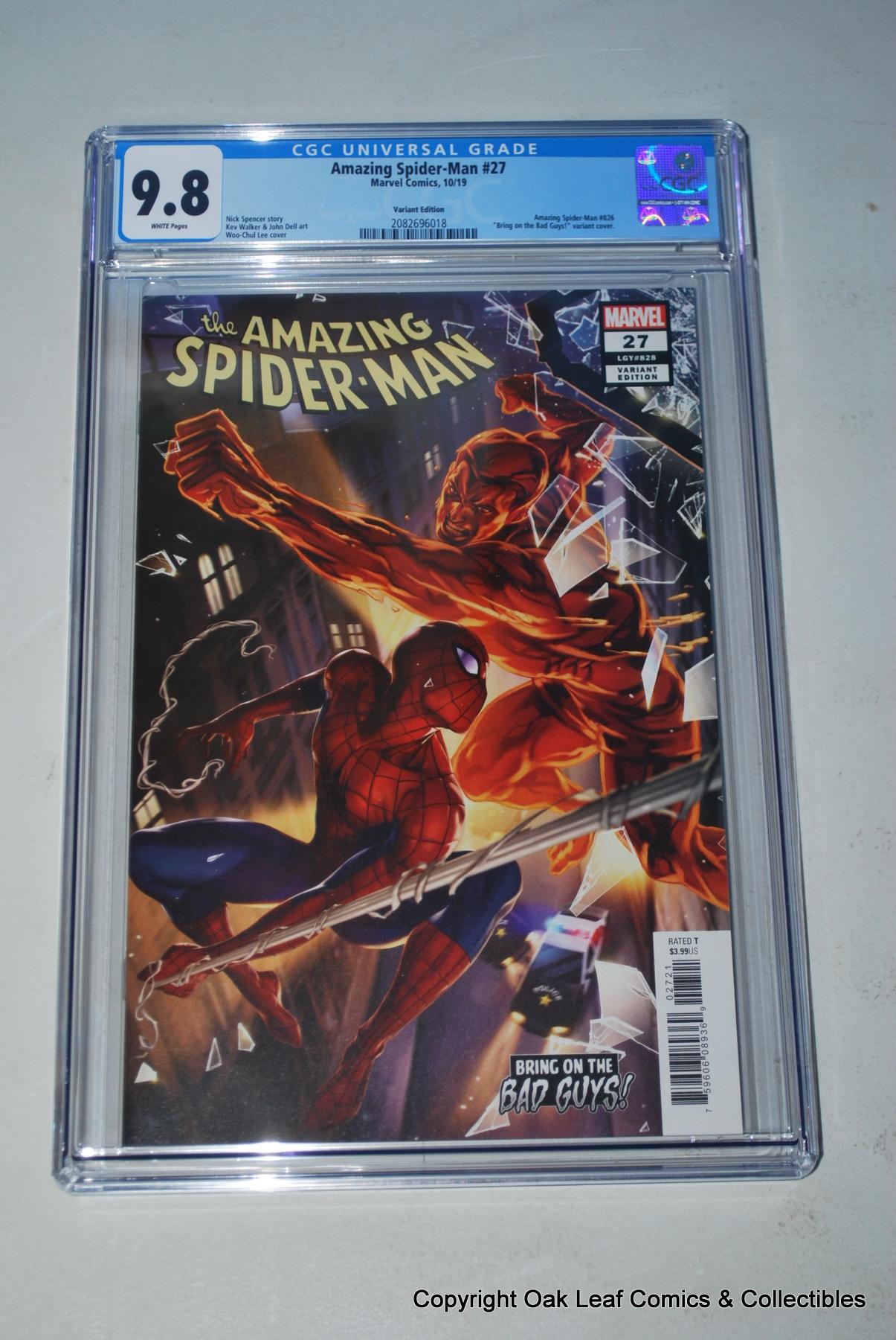 NM Amazing Spider-Man #27 Lee BOBG Variant Marvel, 2019