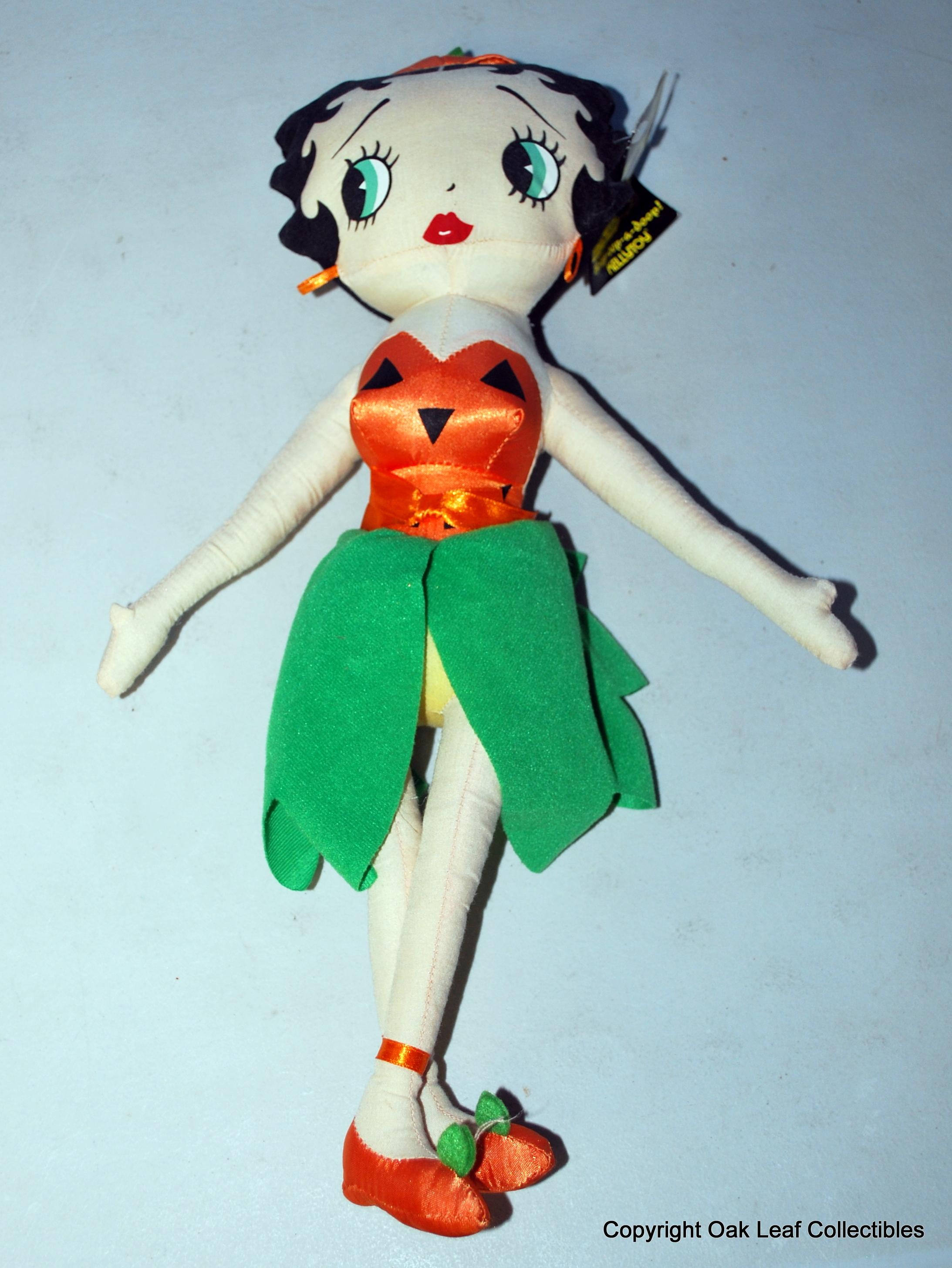 "kellytoy betty boop 17"" halloween colors betty plush doll stuffed"